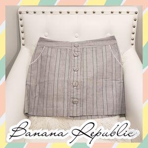 10 Banana Republic linen skirt cloth navy mini